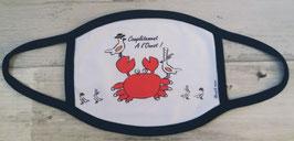 """Masque blanc lanières noires """" Crabe"""""""
