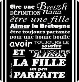 """Dessous de verre """"la Breizh Nana""""- Breizh Nana"""