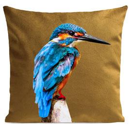 LITTLE BLUE BIRD - MUSTARD