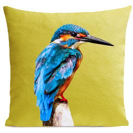 LITTLE BLUE BIRD - BRIGHT YELLOW