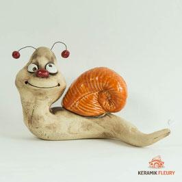 Keramik Gartenfigur Schnecke