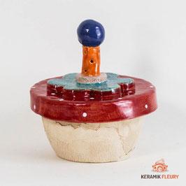 Bunte Keramik Dose