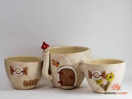 Keramik Kräutertopf, Blumentopf, Übertopf - Kräutertopfstadt