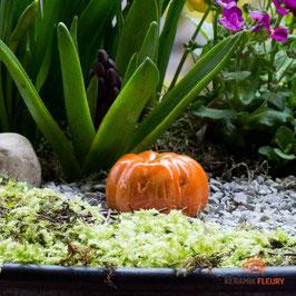 Keramik Kürbis für Miniaturgarten (1 Srück)