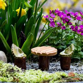 Keramik Tisch für Miniaturgarten (1Stück)