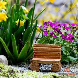 Keramik Bank für Miniaturgarten (1 Stück)