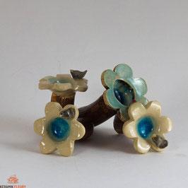 Keramik Vogeltränke für Miniaturgarten (1Stück)