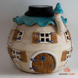 Wichtel Keramik Solarkugel Gartenkugel
