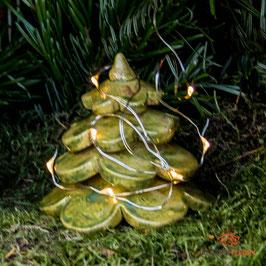 Keramik Tannenbaum für Miniaturgarten (1 Stück)