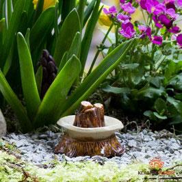 Keramik Feuerstelle für Miniaturgarten (1 Srück)