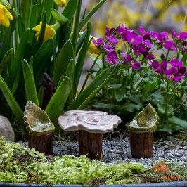Keramik Tisch für Miniaturgarten Rose (1Stück)