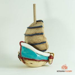Keramik Boot Segelschiff