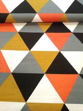 Canvas Taschenstoff Dreiecke