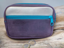 BELT BAG violet/ argenté