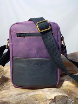 SACOCHE S purple/ gris sombre