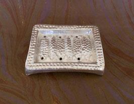 Porte savon cuivre étamé