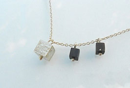 Pendentif cubes argent ébène