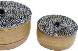 Bol en bambou laqué coquille