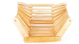 Corbeille bois pliable