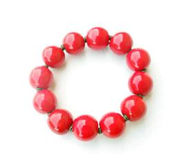 Bracelet Kazuri Cherry round