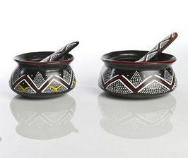 Sucrier poterie et cuiller