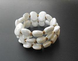 Bracelet Kazuri White Mop