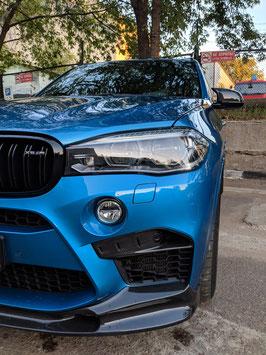 Карбоновый спойлер переднего бампера 3D design BMW X6M F86