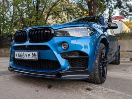 Карбоновый спойлер переднего бампера 3D design BMW X5M F85