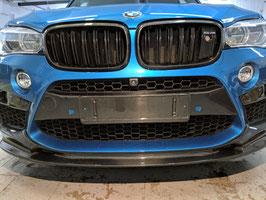 "Карбоновая накладка на центральную часть переднего бампера ""CFA"" style BMW X5M f85"