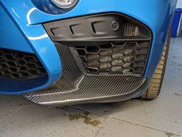 Карбоновые клыки Performance переднего бампера BMW X6m F86