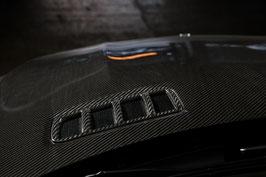 Карбоновые накладки на решетки в капоте Mercedes GLE