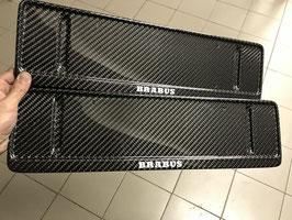 Карбоновые номерные рамки BRABUS