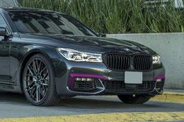 Карбоновые вставки переднего бампера BMW 7 G11 G12