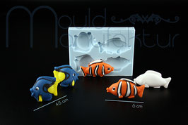 3-D Fische Set 2 (länglich)