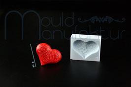 Herz 3-D mit mit Rosenmuster