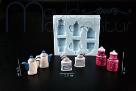 Kaffeekanne Kaffeemühle Kaffeedose 3D