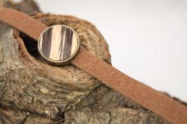 "Armband, Filz, braun, 14mm, Intarsie, ""Zebrano"""