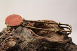 Tuchschließe, Kiltnadel, Jackennadel, 16mm, Intarsie, Ahorn braun