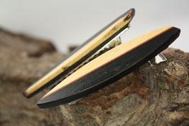 Haarspange / Krokodilklammer / Paar / haarfreundlich/ 45mm / Mooreiche + marmorierte Buche