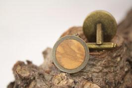Manschettenknöpfe/ hochwertige Brisur / 20mm / Olive