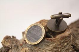 Manschettenknöpfe/ hochwertige Brisur / 20mm / Eiche schwarz