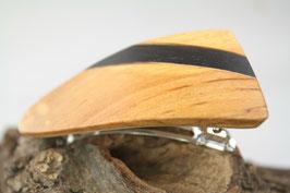 Haarspange / klein / 60mm / Intarsie / Erlenholz + Mooreiche