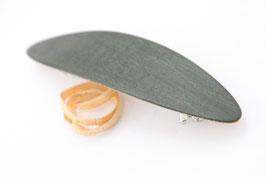 Haarspange / federleicht / 60mm / Intarsie / Ahorn grün