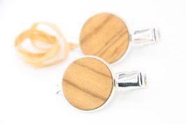 Seitenspange , mini Haarspange , Krokodilklammer / Paar / haarfreundlich/ 45mm / 20mm  / Olive