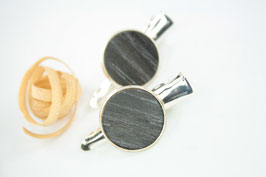 Seitenspange , mini Haarspange , Krokodilklammer / Paar / haarfreundlich/ 45mm / 16mm  / Eiche gekalkt