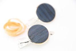 Seitenspange , mini Haarspange , Krokodilklammer / Paar / haarfreundlich/ 45mm / 20mm  / blauer Ahorn