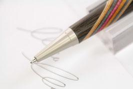 Kugelschreiber / hochwertig / Mooreiche + bunte Furniere