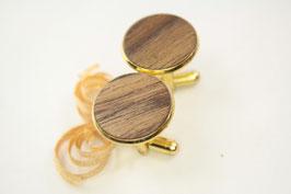 Manschettenknöpfe / 20mm / vergoldet / Intarsienarbeit / Waluß