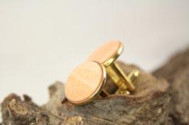 Manschettenknöpfe / 18mm / Ahorn Rose / vergoldet