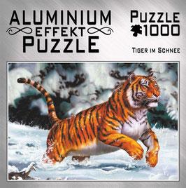 """Aluminium Puzzle """"Tiger im Schnee"""""""